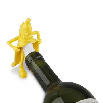 KCASA KC-SP004 Funny Mr. Banana Wine Stopper Novelty Bar Tools Wine Cork Bottle Plug Perky Interesting Gifts