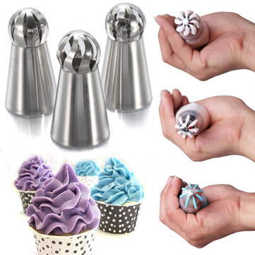 3PCS DIY New Russian Style Tulip Icing Piping Nozzles Cake Decorating Tool Set