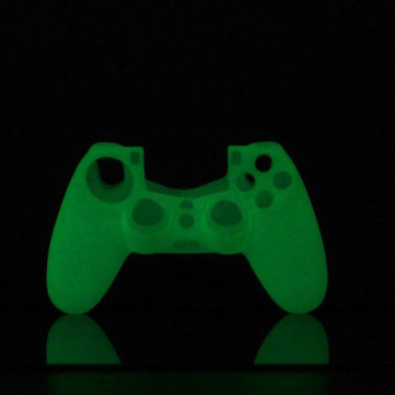 Glow Noctilucence Silicone Skin Case Cover for PS4 Controller White