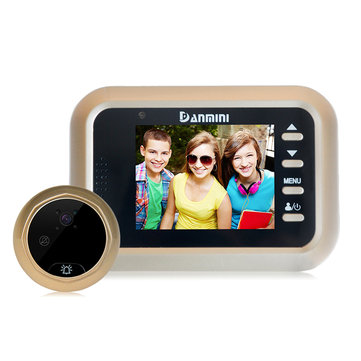 Danmini W8 2.4 inch HD Video Doorbell Audio Intercom 1080P IR Camera Energy-saving Support TF Card