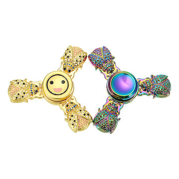 Zinc Alloy Rotating Tri Spinner Fidget Hand Spinner ADHD Autism Reduce Stress Focus Attention Toys