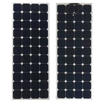 Elfeland 140W 23V Sunpower Semi-flexible Solar Panel 1.5m Cable For Home RV Boat
