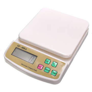 10kg/1g SF-400A Digital Scale For Household Electronic Kitchen Scale Weighing Scale With Backlight