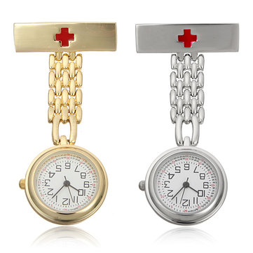 Silver Gold Charms Pendants Fob Stainless Steel Nurse Watch