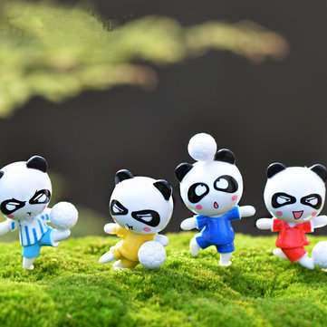 24PCS Panda Bear Doll Miniature DIY Micro Landscape Plant House Decor Accessories Toy