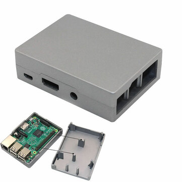 Aluminum Alloy Enclosure Metal Case Box For Raspberry Pi B+/B/Pi 2/Pi 3 No Need HeatSink Fan