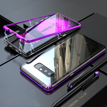 Bakeey Magnetic Adsorption Metal Clear Tempered Glass Scratch Resistant Protective Case for Samsung Galaxy Note 8