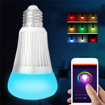 E27 B22 7W SMD5730 WiFi RGBW LED Smart Bulb Light Work With echo Alexa Google Home AC85-265V