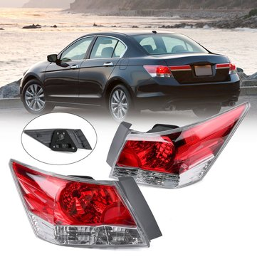 Left/Right Red Car Tail Light Shell Assembly for Honda Accord EX 4-Door Sedan 2008-2012 HO2801172