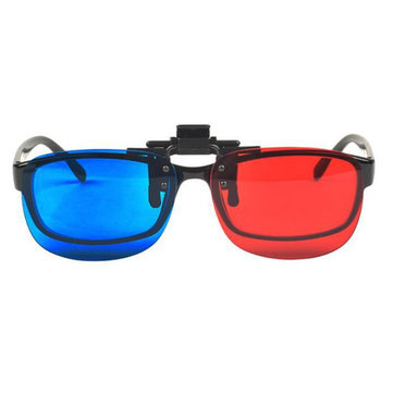 Fashion Universal Blue And Red 3D Glasses Plastic Glasses For Home Theater Movie Cinema Projector