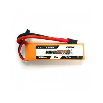 CNHL MiniStar 450mAh 7.4V 2S 70C Lipo Battery XT30U Plug for RC Drone FPV Racing