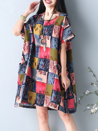 S-5XL Floral Printed Dress