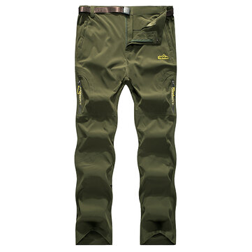 Large Size S-3XL Men'S Stretch Punch Pants Casual Outdoor Breathable Sports Trousers