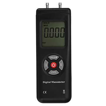 TL-102 LCD Digital Manometer Differential Gauge Air Pressure Meter 10Psi Data Hold 11 Units