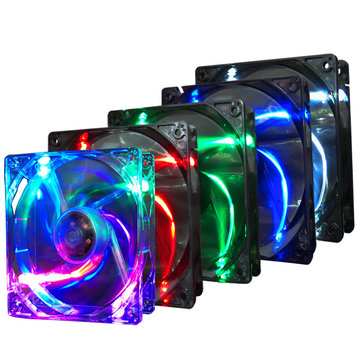Pccooler F1210 3 Pin 12CM Multiple Colors Colorful LED Computer Case Cooler Cooling Fan