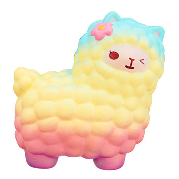Jumbo Sheep Squishy Cute Alpaca Rainbow Super Slow Rising Scented Fun Animal Toys