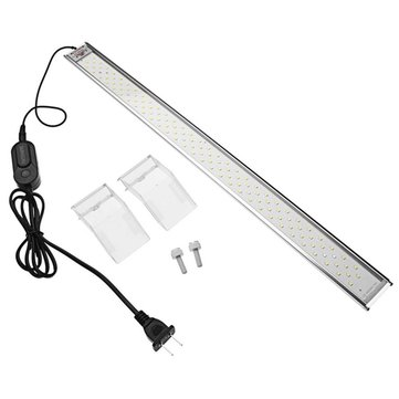 9W 30CM/13W 40CM/17W 50CM LED Aquarium Light Overhead Fish Tank Plant Grow Light 6500-7500K AC220V