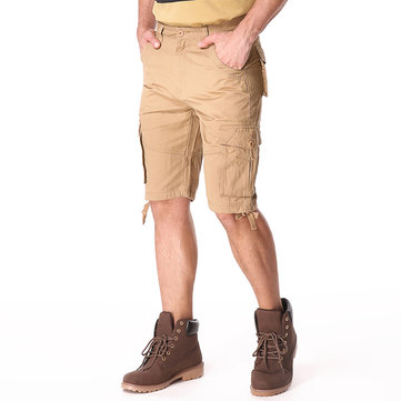 Big Men's Multi Pocket Shorts Pants Casual Cargo