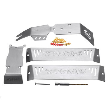 1 Set Stainless Steel Chassis Armor Skid Plate for 1/10 Traxxas ERevo E-Revo 2.0 Rc Car Parts