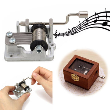 3 Songs DIY Mechanical Hand Crank Musical/Music Box Birthday Gift