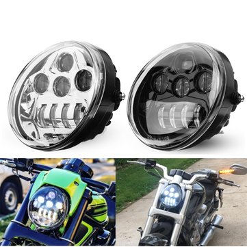 3450lm 60W DOT Motorcycle LED Front Headlight Hi/Lo Beam For Harley Davidson VROD