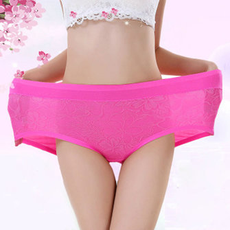 Large Size Women Super Elastic Jacquard High Waist Modal Panties Underwear