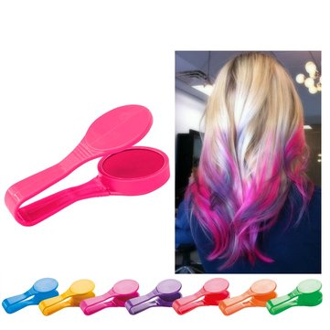 Disposable DIY Hair Dye Hair Color Chalk Powdery Clamp Clip Colorful Makeup Styling Tool