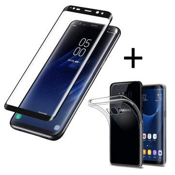 Bakeey™Pellicola 3D Curva al Bordo di Vetro Temperato con Custodia Trasparente di TPU per Samsung Galaxy S8