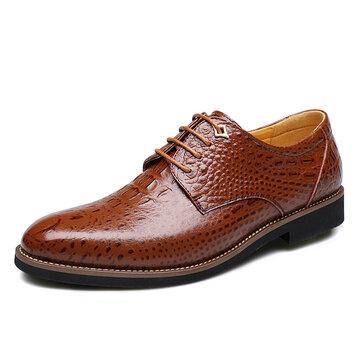 Hommes Chaussures habillées à la mode en cuir véritable