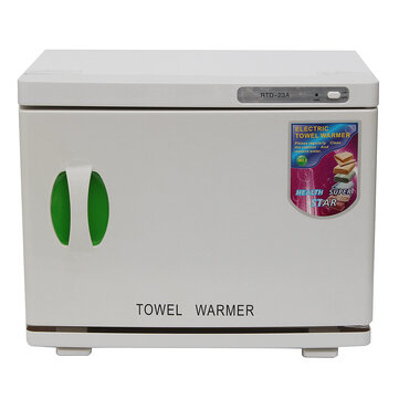 23L UV Sterilizer Cabinet Hot Towel Warmer Disinfection 60±10 Degrees EU Plug