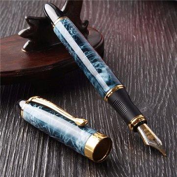 JINHAO X450 Blue Marble Business office Medium Nib Fountain Writing Paint Pen