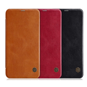 NILLKIN Flip Shockproof Smart Sleep Leather Protective Case For Xiaomi Redmi Note 6 Pro