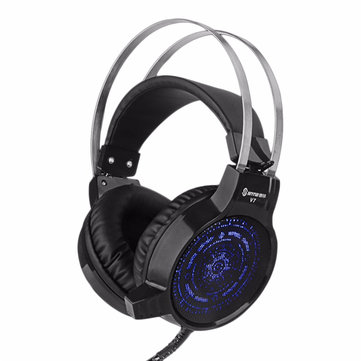 V7 Colorful Light Flashing Gaming Headphone Headset With Mic Deep Bass for Tablet Computer Lattop