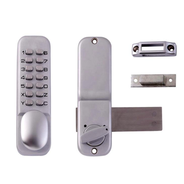 Universal Keyless Entry Mechanical Keypad Push Button Password Zinc Alloy Door Security Code Lock