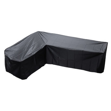 L Shape Polyester Furniture Waterproof Cover Outdoor Garden Sofa Skin Dust Rain UV Protector