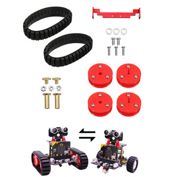 Yahboom 2WD Smart Robot Transform Package Wheels + Track Kit for Micro: bit Tank Car