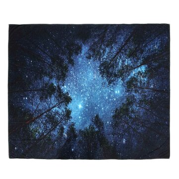 IPRee™ 153x102CM Outdoor Travel Beach Towel Mat Forest Starry Sky Polyester Hanging Tapestry