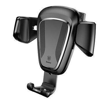 Baseus Gravity Авто Держатель воздушного потока 360 Вращающаяся подставка для телефона под стойку для Samsung Xiaomi Huawei