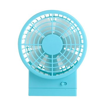 Portable Mini Desktop Fan 30° Tilting Dual Motor Blowers USB Charging Power Saving