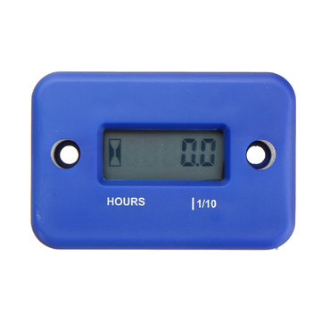 Mini Digital LCD Motorcycle ATV Bike Waterproof Hour Meter Gauge Timer Tool