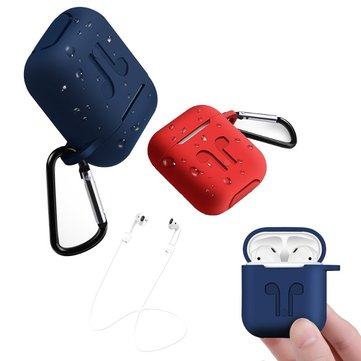Bakeey Waterproof Shockproof Earphone Case+Anti Lost Strap+Hook For Apple AirPods