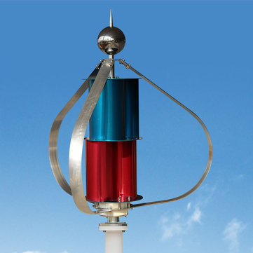 400W 12V/24V Vertical Axis Permanent Magnet Wind Turbine Wind Generator with Controller