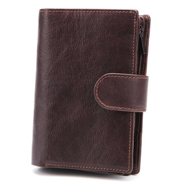 Men Passport Bag 9 Card Slots Photo Holder Business Wallet