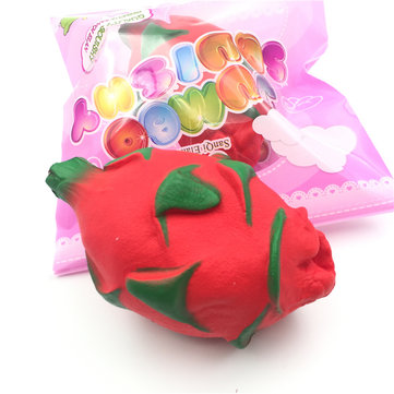 SanQi Elan Squishy Pitaya Dragon Fruit Tropical Licensed Slow Rising Original Packaging Collection Decor Toy