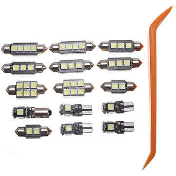 15Pcs Car LED Interior Lights Lamp Package Kit for Audi A4 B8 Avant J1 2009-2013