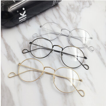 Men Women Vintage Round Circle Eyeglasses Clear Lens Casual Optical Glasses