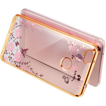 Luxury Soft TPU Flowers Pattern Plating Protective Case For Xiaomi Mi Max