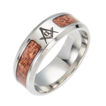 Trendy Insert Cross Finger Rings Vintage Tree Of Life Pattern Stainless Steel Ring for Men