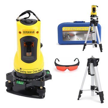 SL-203 Red Beam Cross Line Self Leveling Rotary Laser Level with Tripod Stand