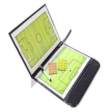 Folding Magnetic Piece Football Sandbox Board Tactical Plate Tactics Book Set With Pen Teaching Clip